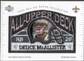2003 UD Patch Collection All Upper Deck Patches #UD11 Deuce McAllister