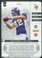 2011 Panini Plates and Patches Printing Plates Black #214 Kyle Rudolph RC Jersey Autograph 1/1
