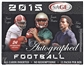 2015 Sage Autographed Football Hobby Box
