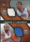 2007/08 Upper Deck Sweet Shot Sweet Swatches Dual #NA Trevor Ariza/Jameer Nelson