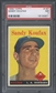 1958 Topps Baseball #187 Sandy Koufax PSA 7 (NM) *0971