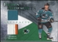 2010/11 Upper Deck Artifacts Frozen Artifacts Jersey Patch Emerald #FAPM Patrick Marleau 6/25