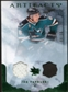 2010/11 Upper Deck Artifacts Jerseys Patches Emerald #38 Joe Pavelski /50