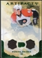 2010/11 Upper Deck Artifacts Jerseys Patches Emerald #41 Daniel Briere /50