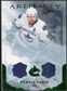 2010/11 Upper Deck Artifacts Jerseys Patches Emerald #58 Henrik Sedin /50