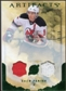 2010/11 Upper Deck Artifacts Jerseys Patches Emerald #63 Zach Parise /50
