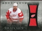 2010/11 Upper Deck Artifacts Treasured Swatches Silver #TSHZ Henrik Zetterberg 36/50
