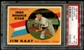 1960 Topps Baseball #136 Jim Kaat Rookie PSA 8 (NM-MT) *1762