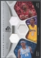 2006/07 SP Game Used #BAJ Kobe Bryant, LeBron James, & Carmelo Anthony Authentic Fabrics Triple Jersey #21/25