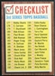 1962 Topps #192B Checklist 3 192 with Comma - Unmarked