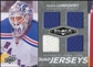 2010/11 Upper Deck Black Diamond Jerseys Quad #QJHL Henrik Lundqvist