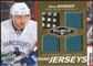 2010/11 Upper Deck Black Diamond Jerseys Quad Gold #QJSB Steve Bernier 1/25