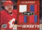 2010/11 Upper Deck Black Diamond Jerseys Quad Ruby #QJLM Lanny McDonald /50
