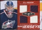 2010/11 Upper Deck Black Diamond Jerseys Quad Ruby #QJSM Steve Mason 48/50