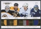 2011/12 Dominion #33 Daniel Sedin, Roberto Luongo, Tim Thomas, & Zdeno Chara Quad Patch #1/5