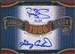 2012 SP Signature #86WS2 Gary Carter Darryl Strawberry Signature Season Signatures Dual Auto #16/34