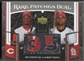 2007 Upper Deck Premier #GP Ken Griffey Jr. & Albert Pujols Rare Dual Patch #06/50