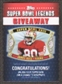 2011 Topps Super Bowl Legends Giveaway #SBLG4 Jerry Rice