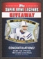 2011 Topps Super Bowl Legends Giveaway #SBLG8 Peyton Manning
