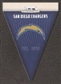 2012 Panini Rookies and Stars NFL Team Pennant #26 San Diego Chargers