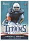 2012 Topps Bowman #129A Kendall Wright RC/football in right hand