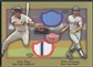 2002 Fleer Fall Classics #14 Wade Boggs & Keith Hernandez October Legends Game Used Dual Jersey