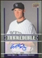 2009 Upper Deck Inkredible #GS Greg Smith S2 Autograph