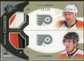 2010/11 Upper Deck SPx Winning Combos Patches #WCGR Claude Giroux/Mike Richards 11/15