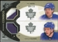 2010/11 Upper Deck SPx Winning Combos Patches #WCKK Phil Kessel Nikolai Kulemin 4/15
