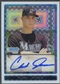 2009 Bowman Chrome Draft #BDPP92 Chad James Prospects X-Fractors Rookie Auto #030/225