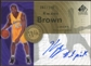 2005/06 Upper Deck SP Signature Edition INKredible INKscriptions #KW Kwame Brown Autograph /100