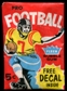 1960 Fleer Football 5 Cent Wax Pack