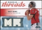 2008 Upper Deck SP Rookie Threads Rookie Threads #RTMR Matt Ryan /199