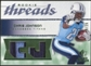 2008 Upper Deck SP Rookie Threads Rookie Threads Patch 25 #RTCJ Chris Johnson /25