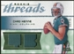 2008 Upper Deck SP Rookie Threads Rookie Threads Patch 75 #RTCH Chad Henne /75