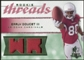 2008 Upper Deck SP Rookie Threads Rookie Threads Patch 75 #RTED Early Doucet /75