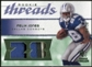 2008 Upper Deck SP Rookie Threads Patch Jersey Number #RTFJ Felix Jones /28