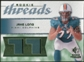 2008 Upper Deck SP Rookie Threads Patch Jersey Number #RTJL Jake Long /77