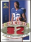2008 Upper Deck SP Rookie Threads Rookie Numbers Holofoil Patch #RNMM Mario Manningham /75