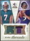 2008 Upper Deck SP Rookie Threads Dual Threads Patch #DTHF Chad Henne Joe Flacco /35
