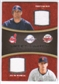 2008 Upper Deck Sweet Spot Swatches Dual #DHM Travis Hafner/Justin Morneau