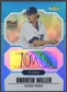 2007 Finest #151 Andrew Miller Blue Refractor Rookie Auto #005/299
