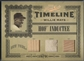 2005 Prime Cuts #8 Willie Mays Timeline Material Trio NY Giants Bat Jersey #2/5