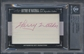 2012 Leaf History of Baseball Cut Signatures Harry Walker Cut Auto