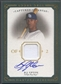 2008 UD Masterpieces #BU B.J. Upton Captured on Canvas Jersey Auto