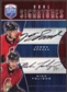 2009 10 Upper Deck Be A Player Signatures Duals #S2SF Jason Spezza Nick Foligno Autograph