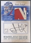 2010/11 Between The Pipes #MAHL Henrik Lundqvist Emblems Silver Patch Auto /3