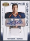 2010 Panini Gridiron Gear #26 Tim Tebow Rookie Orientation Patch Auto #04/15