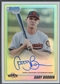 2010 Bowman Chrome Draft Prospect #BDPP70 Gary Brown Rookie Refractor Auto #321/500