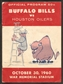 1960 AFL Game Program Houston Oilers at Buffalo Bills October 30, 1960